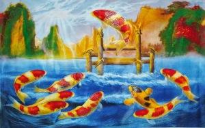 pez koi salto del dragon
