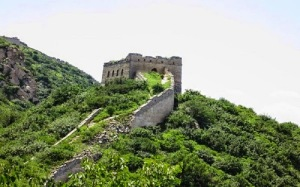 gran muralla china en ruinas
